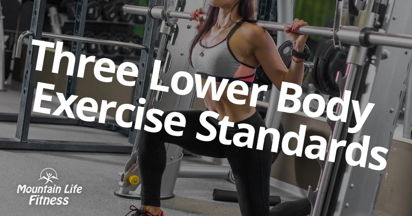Three Lower Body Exercise Standards Article